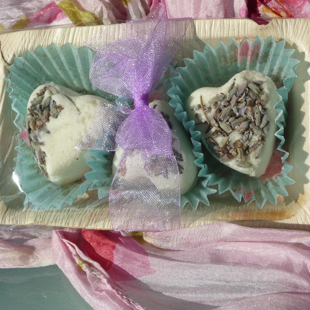 Badeherzen Lavendel